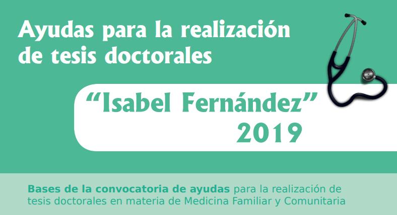 """Ayudas para la realización de tesis doctorales """"Isabel Fernández"""" 2019"""