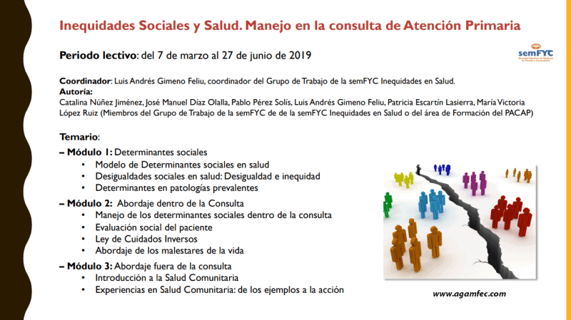 Inequidades Sociales y Salud. Manejo en la consulta de Atención Primaria