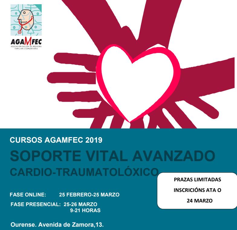 CURSO SVA CARDIO–TRAUMATOLÓGICO EDICIÓN Ourense 2019