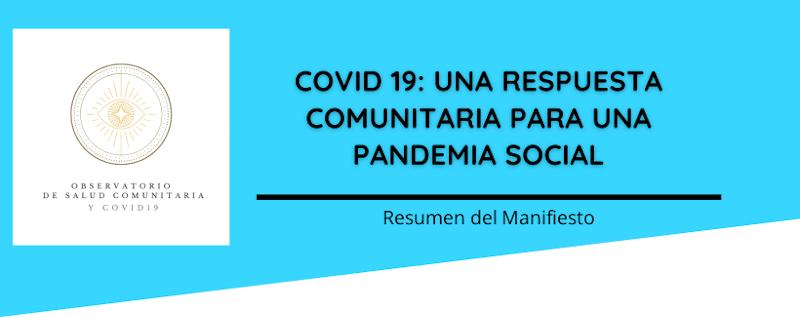 Manifiesto Observatorio de Salud Comunitaria y COVID19